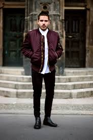 Jacket Menswear Hoodie Clothes Jaclet Boy Fashion Vintage Style Like Bomber Outerwear Burgundy Mens