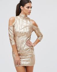 tfnc high neck sequin mini dress with cold times 22 00