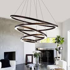led moderne kronleuchter beleuchtung glanz ring kronleuchter 110 v 220 v len für home wohnzimmer