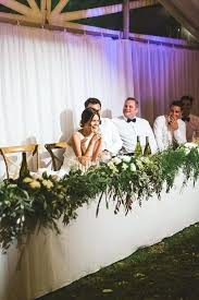 Bridal Table Decorations Garland Greens Flowers Strung Along The Head Shower Centerpieces