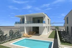 100 2 Story House With Pool Modern Semidetached House With Pool And Sea View