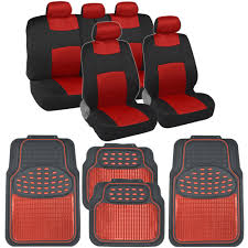 Oxgord Trim 4 Fit Floor Mats by Red Car Seat Covers Floor Mats Set Knit Mesh Accents W Metallic