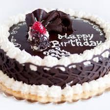 happy birthday chocolate cake with berry