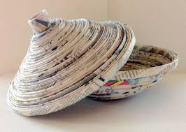 Are You A Fan Of Handicrafts Recycling Or Green Living I Was Browsing The Wayfair Site And Came Across Handcrafted Newspaper Bowl Priced At Eighty