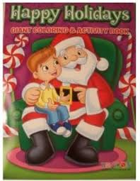Get Quotations Happy Holidays 160 Page Giant Coloring And Activity Book Christmas Edition Boy In Santa