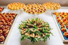 canapes aperitif canapes on plates stock photo image of settled aperitif 41591454
