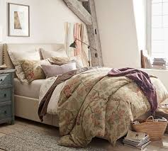 Grace Floral Linen Texture Duvet Cover & Sham