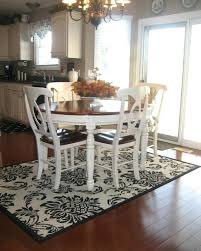 Area Rug Under Kitchen Table Dining
