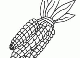 Indian Corn Coloring Sheets Style Pages For Elegant Page Regarding Household