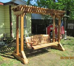 Outdoor Swing Frames | Hand Made Cedar Porch Swings, Adirondack ... Freestanding Aframe Swing Set 8 Steps With Pictures He Got Bored With His Backyard So Tore It Down And Pergola Canopy Fniture Free Pergola Plans You Can Diy How To Build A Arbor Howtos Diy Nearly Handmade Building Stairs For The Club House To A Fort Outdoor Goods Simpleeasycheap Porbench 2x4s Youtube Discovery Weston Cedar Walmartcom Combination Playhouse And Climbing Wall How Porch Made From Pallets Simple Ideas All Home For Tim Remodelaholic Tutorial An Amazing Firepit