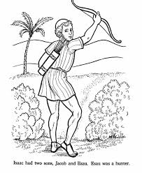 Esau Bible Story Coloring Page