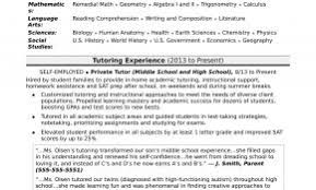 Resume Sample For Tuition Teacher Beautiful Download Tutor