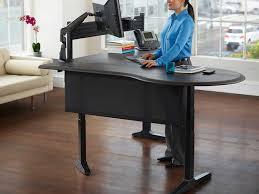 Ergotron Workfit D Sit Stand Desk by Standing Desks Los Angeles Office Furniture Crest Office Furniture