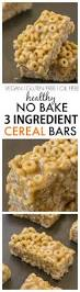 Snacks Before Bed by Healthy 3 Ingredient No Bake Cereal Bars
