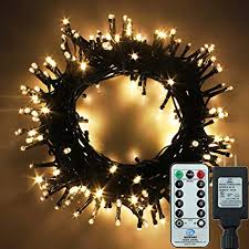 Yosion LED String Lights With Remote Control 75ft 200 Warm White Decorative For