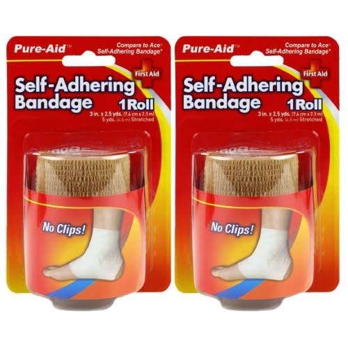 "Pure Aid Self Adhering Bandage - Beige, 3"" X 2.5yds"