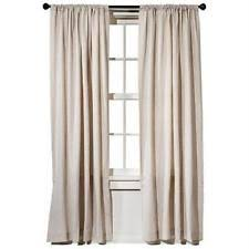 Target Threshold Window Curtains by Threshold Cotton Blend Solid Curtains Drapes U0026 Valances Ebay