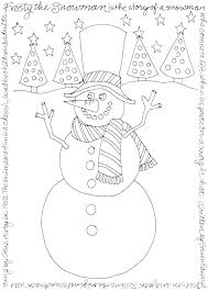 Winter Tree Coloring Page Seasonal Pages Preschool Clothes