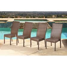 Shop Abbyson Palermo Outdoor Wicker Dining Chairs (Set Of 4) - On ... Outdoor Wicker Ding Set Cape Cod Leste 5piece Tuck In Boulevard Ipirations Artiss 2x Rattan Chairs Fniture Garden Patio Louis French Antique White Back Chair Naturally Cane And Plantation Full Round Bay Gallery Store Shop Safavieh Woven Beacon Unfinished Natural Of 2 Pe Bah3927ntx2 Biscayne 7 Pc Alinum Resin Fortunoff Kubu Grey Dark Casa Bella Uk Target Australia Sebesi 2fox1600aset2