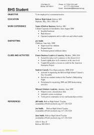 Resume For High School Students With No Experience Luxury Templates