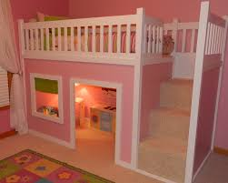 ana white playhouse loft bed with stairs diy projects