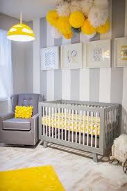 chambre bébé gris et chambres d enfants en jaune et gris