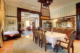 Formal Dining Room With Ceiling Fan