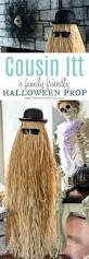 Diy Halloween Coffin Prop by Cousin Itt Halloween Prop Diy Halloween Props Dollar Store