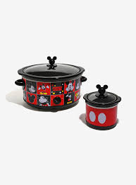 Vintage Mickey Bathroom Decor by Disney Mickey Mouse Slow Cooker U0026 Dipper Set Boxlunch