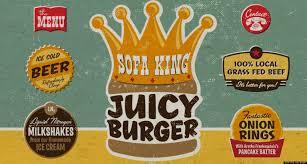 sofa king juicy burger restaurant in chattanooga tenn has a