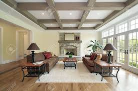 100 Cieling Beams Family Room In New Construction Home With Wood Ceiling Beams