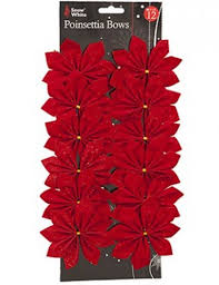 Christmas Tree Bead Garland Uk by Red Velvet Christmas Decoration Bows 10cm 12 Pack Amazon Co