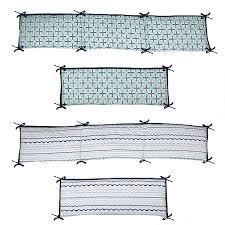 Bacati Crib Bedding by Bacati Noah Tribal Mint Navy 10 Pc Crib Set Including Bumper Pad
