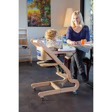 chaise de roulettes chaise prestige en hêtre clair 4 roulettes kodif
