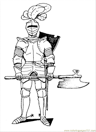 Coloring Book Pages Knights Knight Sword