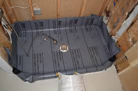 shower how to install a shower pan liner tremendous how to