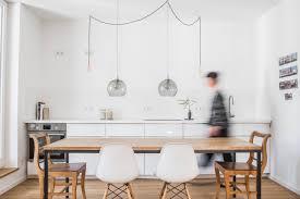 offener wohn essbereich in dezenten farben modern küche