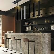 led kronleuchter lange rohr le küche insel restaurant bar dekoration zylindrischen rohr kronleuchter küche le schrank licht