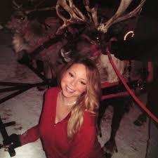 Nbc Christmas Tree Lighting 2014 Mariah Carey by Mariah Hung Out With Real Reindeer In Aspen In 2014 Mariah