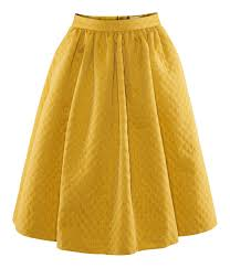 h u0026m skirt in yellow lyst