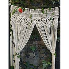 Amazon RISEON Macrame Wall Hanging Tapestry Macrame Door