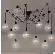 rock bottom price 10 wire edison filament bulb chandelier w bulbs