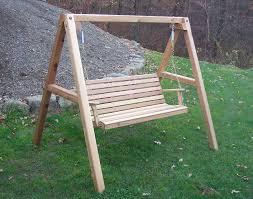 Red Cedar American Classic Porch Swing w Stand