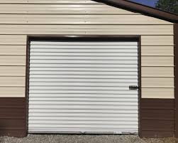 Metal Storage Shed Doors by 24x31x8 Garage A Frame Vertical 2 8x7 Roll Up Doors 1 Service