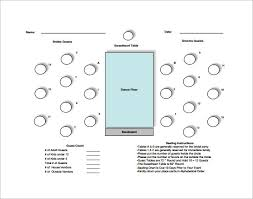 table seating chart template u2013 12 free word excel pdf format
