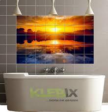 fliesenbild zum aufkleben badezimmer bad sonnenuntergang