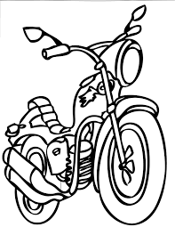 Printable Motorcycle Coloring Pages Transportation