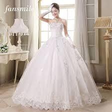 Fansmile Free Shipping Cheap Off Shoulder Lace Wedding Dresses 2016 Vestidos De Novia Plus Size Bridal Dress Gowns