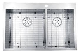 33x22 Stainless Steel Sink by Ruvati Rvh8050 Drop In Overmount 16 Gauge 33