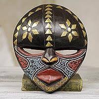 African Wood Mask Barowa